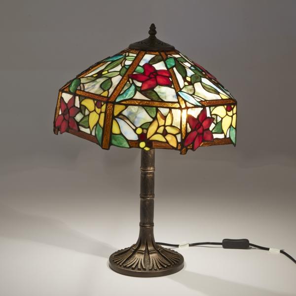 ステンドグラス ランプ アンティーク アメリカンガラス ティファニー クレマティスII テーブルライト