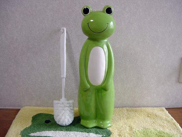 カエルグッズ-frog-frog-toilet-funny! gadgets-frog toilet brush