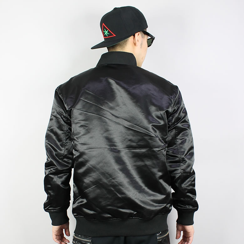 BLACK SCALE / black scale / satin jacket / stained glass /BSH14WJ13black scale blouson/black scale jacket/black bomber/black SCALE scale Ma-1 / black scale jacket / blouson black scale