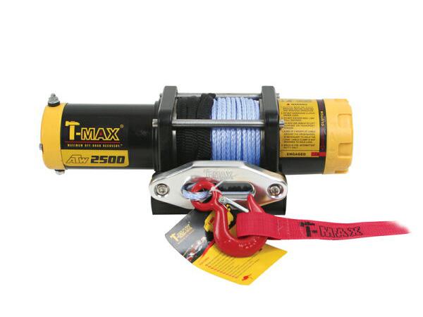 T-MAXハンマーマックス 電動ウインチ 12V 2500LBS ATWPRO ダイニーマロープ