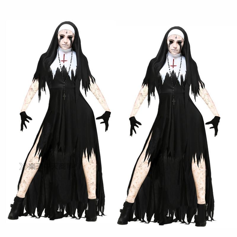 【chuutenn】吸血鬼 ホラー 怖い ハロウィン 幽霊 巫女 大人用 舞台劇 コスチューム コスプレ衣装 仮装 文化祭 忘年会 舞台衣装 演出服 レディース パーティー用 女性用 ワンピース Halloween コスプレ 衣装