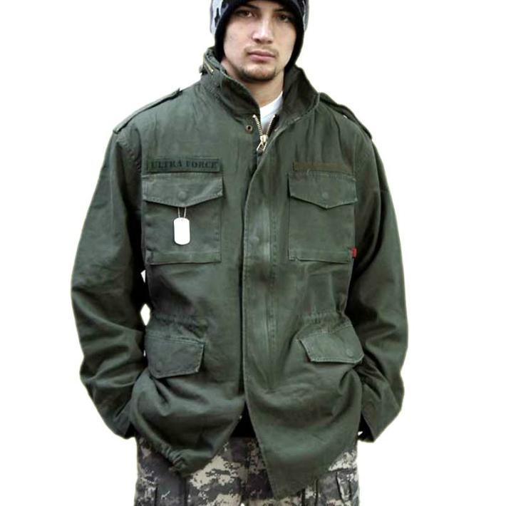 米軍レプリカ M-65 フィールドジャケット ODカラー本格ビンテージ加工 ロスコ ミリタリー Field Jacket