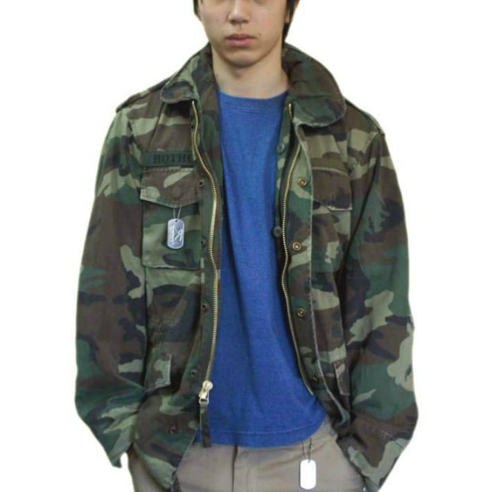 米軍レプリカ 迷彩 M-65 フィールドジャケット本格ビンテージ加工 ロスコ ミリタリー Field Jacket