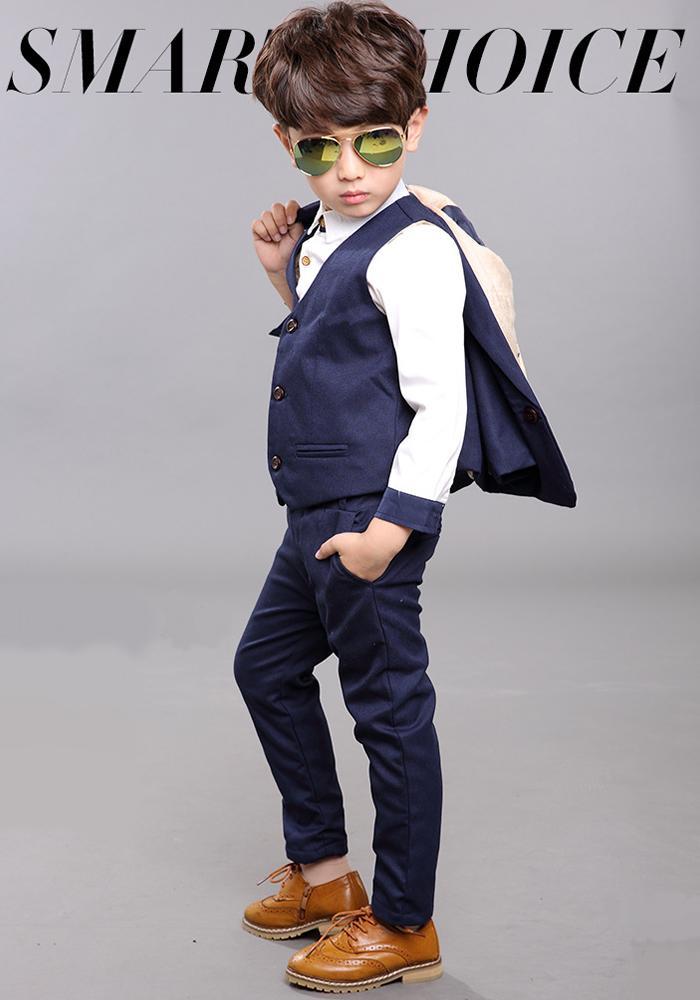 3ec77819a Dress shop GOLDBUNNY  Eight points of set suit boy suit kids four ...