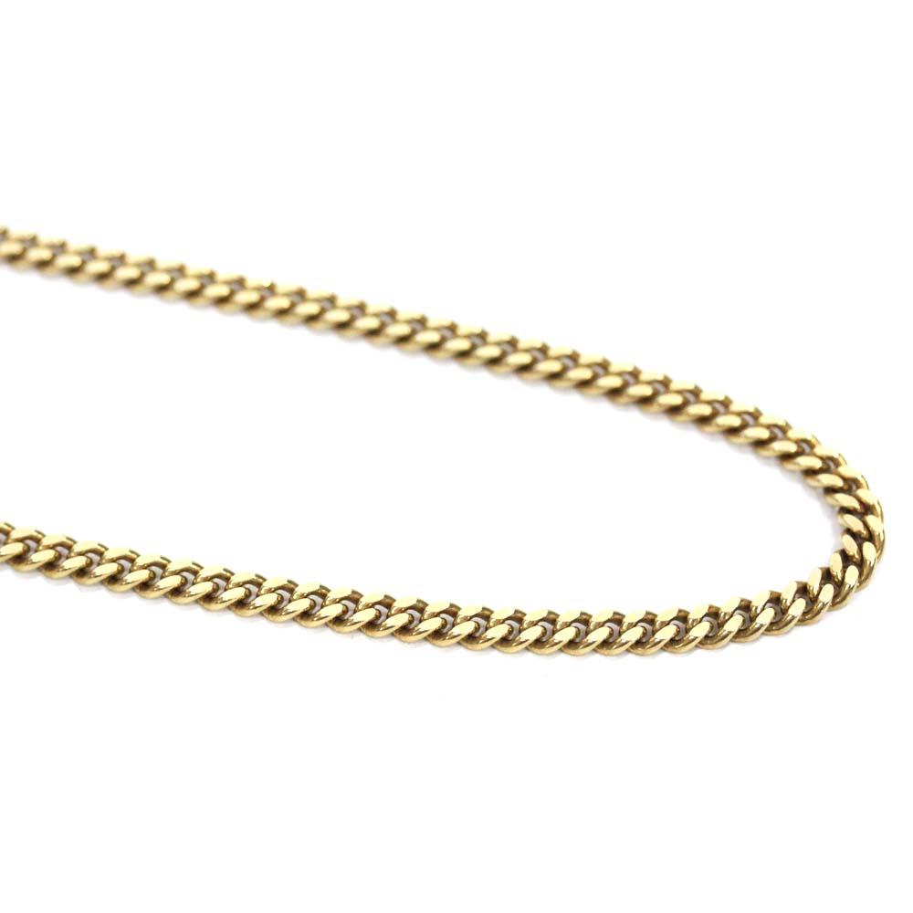 【中古】no brand ノーブランド 喜平 2面シングル 全長約46cm 約31.4g ネックレス ユニセックス K18YG K18イエローゴールド ジュエリー