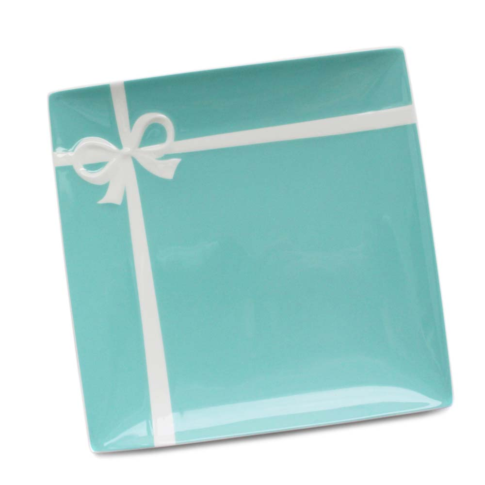 【7/5限定5%オフクーポン配布中】【中古】【美品】TIFFANY&Co. ティファニー ブルーボックス プレート 食器 ユニセックス ブルー 磁器