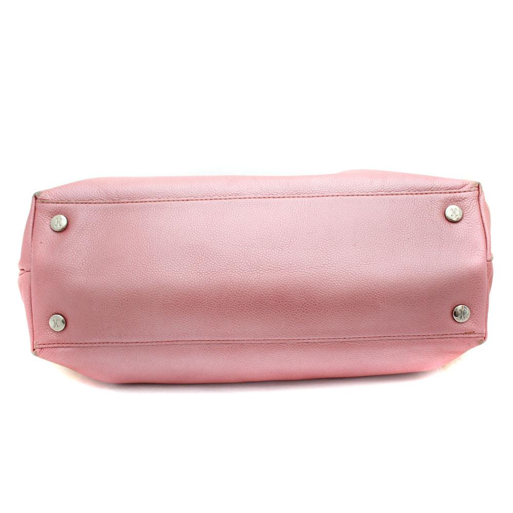 83ba27044f Gold Eco: COLE HAAN Cole Haan logo handbag Lady's pink leather ...