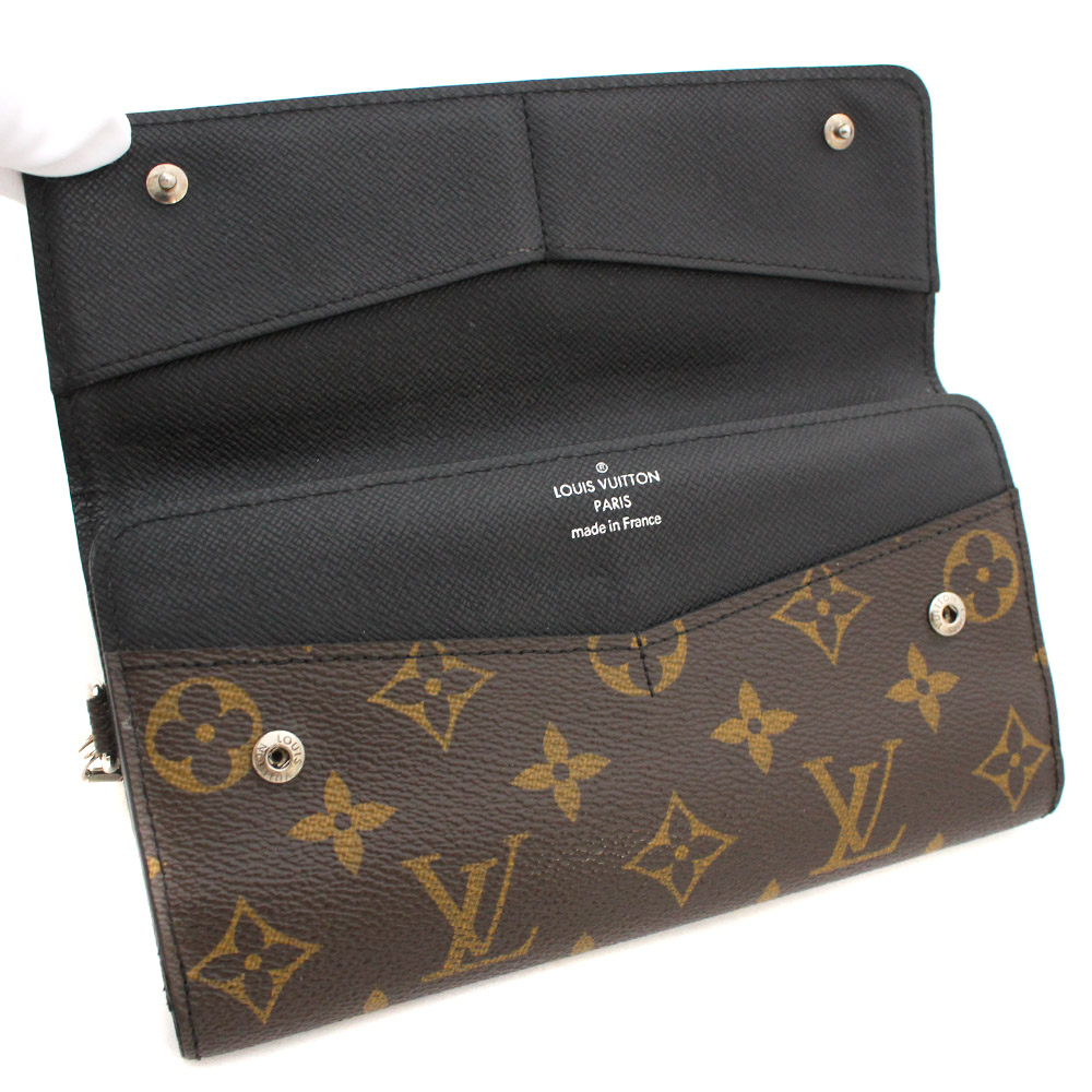 e127c10df50c ... Three LOUIS VUITTON Louis Vuitton fold monogram マカサーポルトフォイユロン long  wallet men brown PVC ...