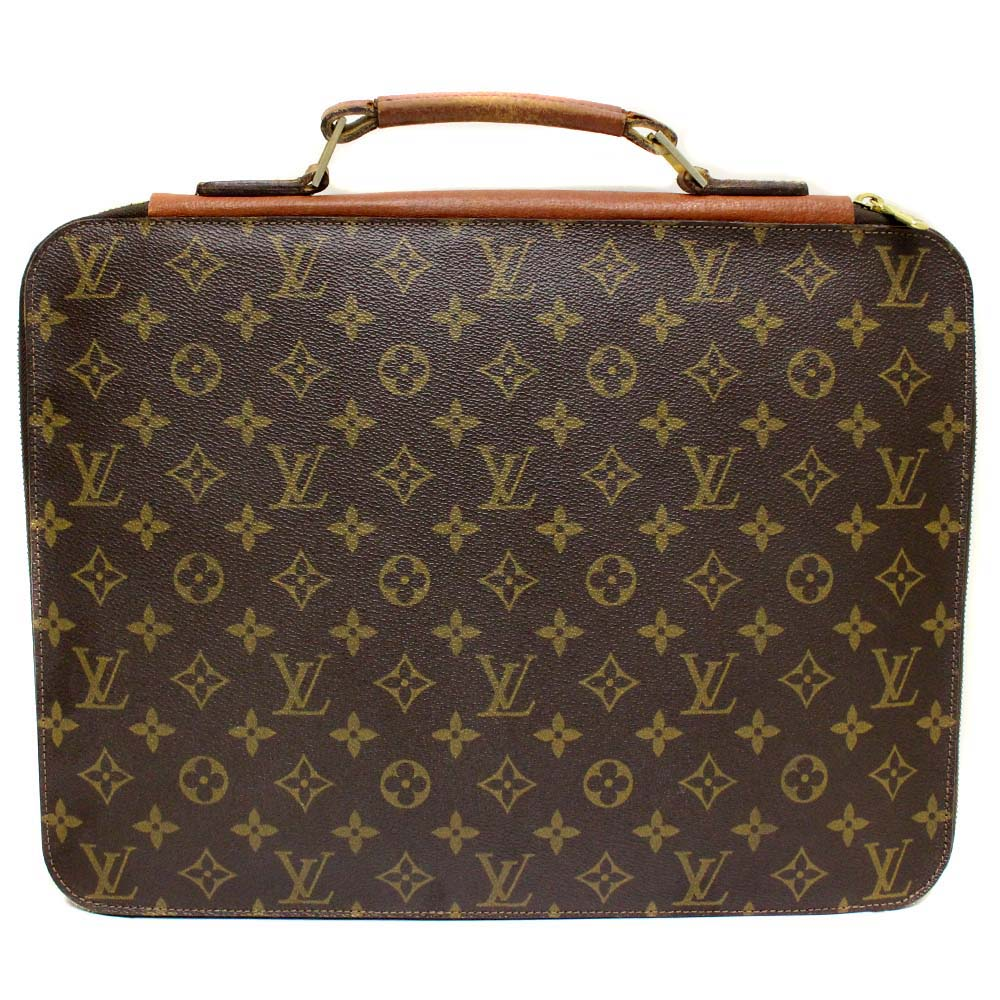 a2ee438028e8c LOUIS VUITTON Louis Vuitton monogram documents bag discontinuance of making  product briefcase unisex brown PVC
