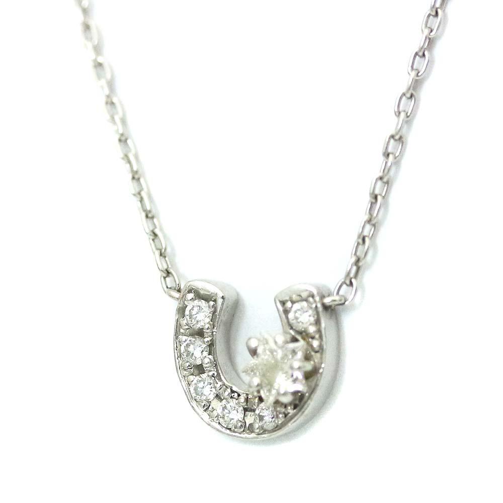 7aa067846 STAR JEWELRY star jewelry horse's hoof motif necklace Lady's platinum Pt950 platinum  diamond jewelry ...