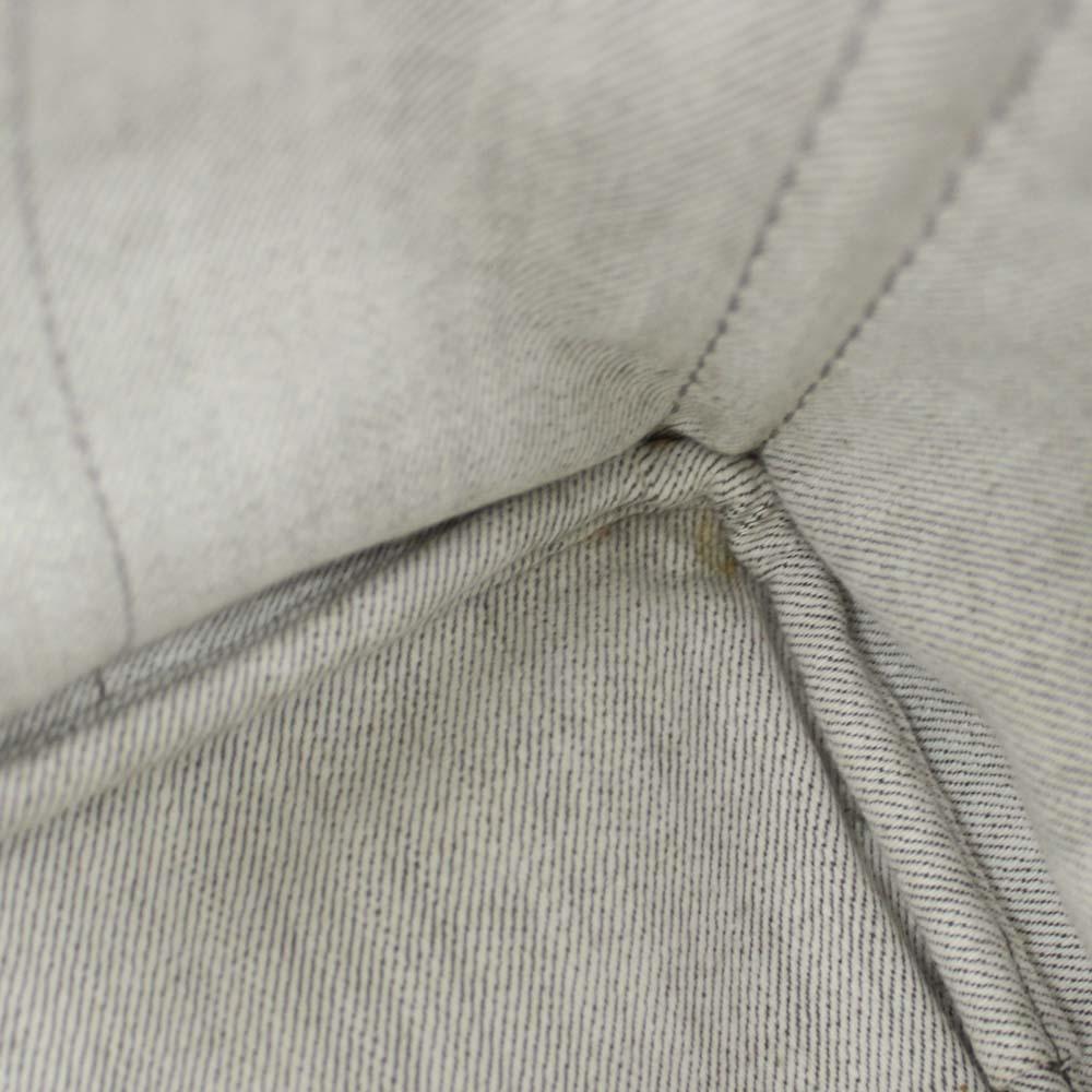 08c0ef3e7c8a ... PRADA plastic Dacca Napa 2WAY tote bag Lady's BIANCO light gray gold  metal fittings denim B2642B