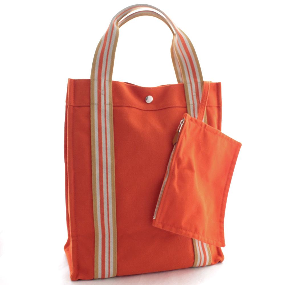 quality design fa710 6c0dc HERMES エルメスサックドプラージュノマード PM tote bag Lady's orange cotton canvas