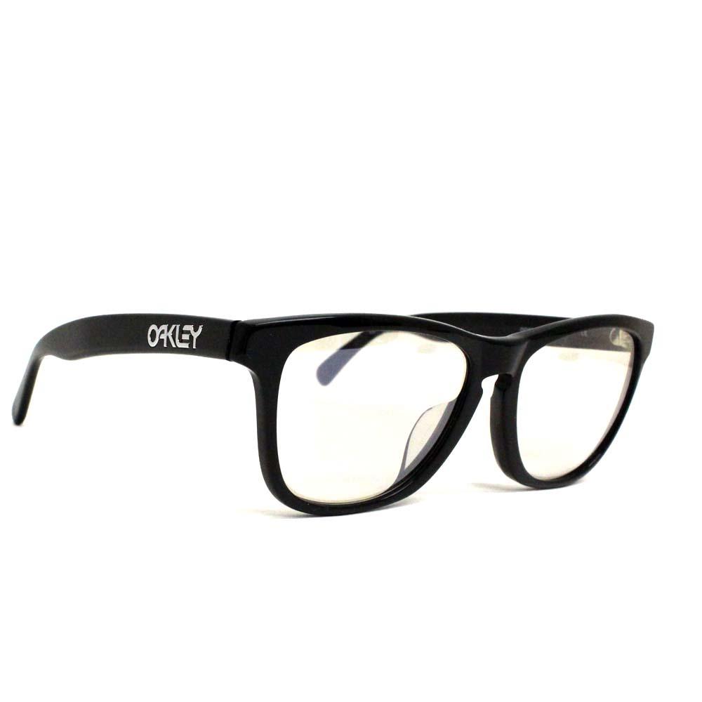 【中古】OAKLEY オークリー ウェリントン フロッグスキン サングラス メンズ ブラック プラスチック 2039-06