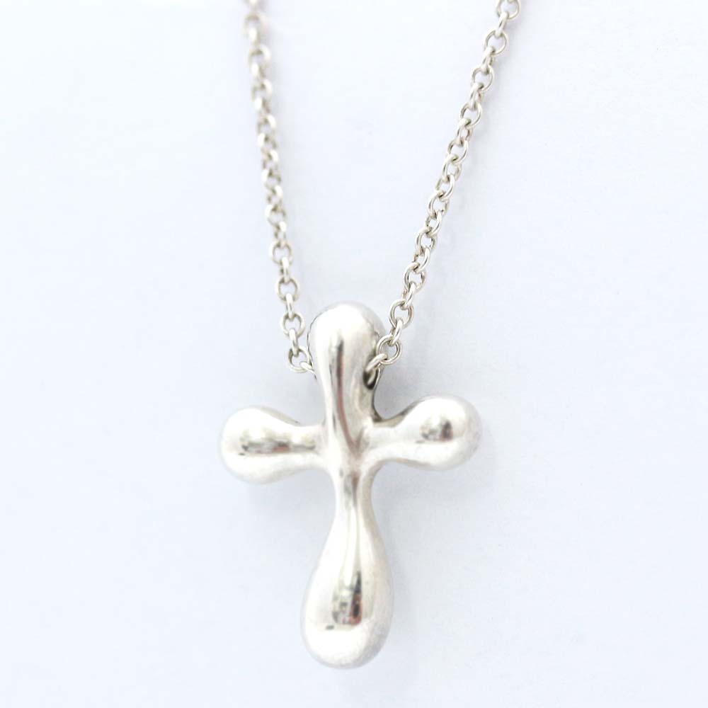 7f9c0a331 TIFFANY&Co. Tiffany Small cross necklace Lady's silver silver 925  accessories