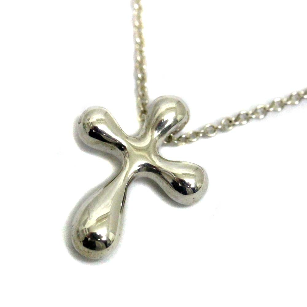 bfd696ab9 TIFFANY&Co. Tiffany Small cross necklace Lady's silver silver 925  accessories ...