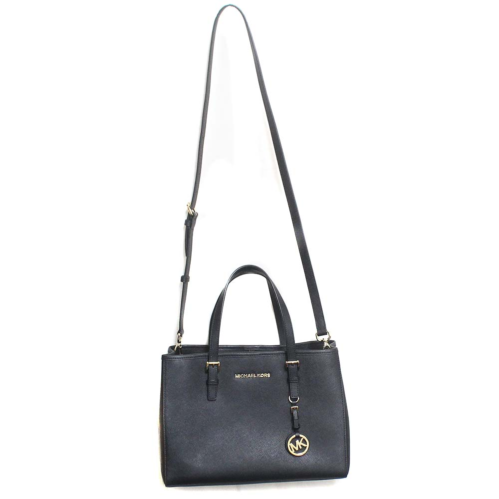 Michael Kors Michael Kors jet set travel 2WAY shoulder bag tote bag Lady's black leather