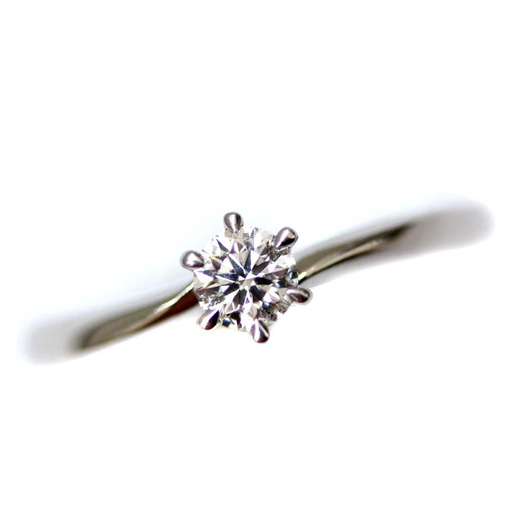 【中古】4℃ ヨンドシー H&C リング・指輪 レディース 8号 PT ダイヤモンド pt995 ジュエリー