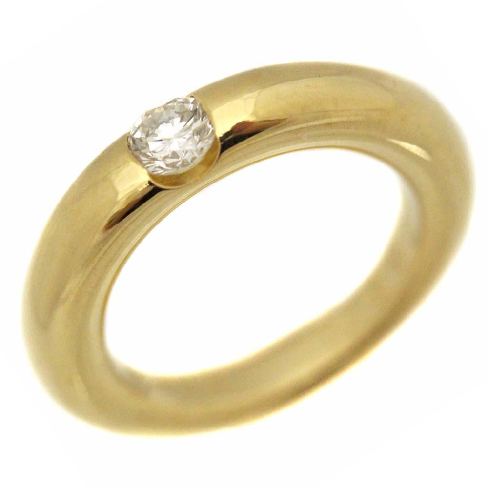 【中古】CARTIER カルティエ エリプス ダイヤモンド リング・指輪 レディース 6.5号 ゴールド K18イエローゴールド ダイヤモンド【新品仕上げ済み】