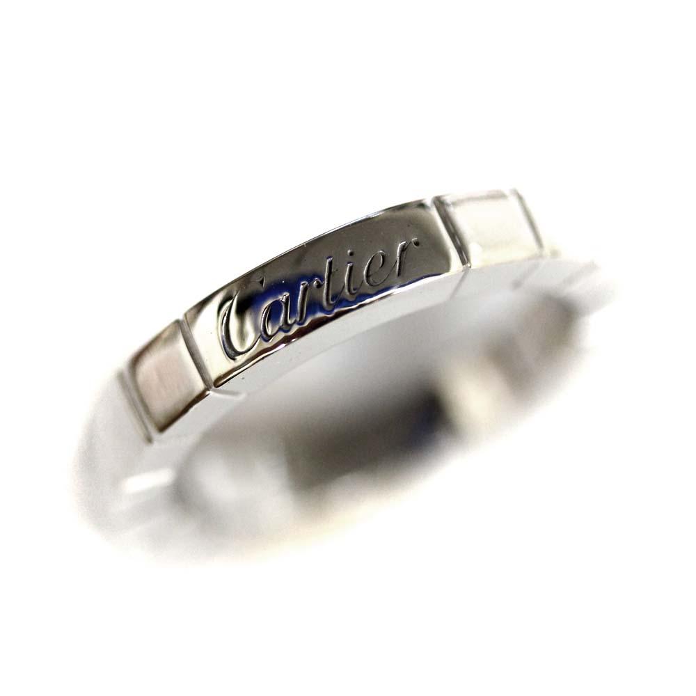 【中古】CARTIER カルティエ 750 ラニエール リング・指輪 レディース 7号 シルバー K18ホワイトゴールド ジュエリー【新品仕上げ済み】