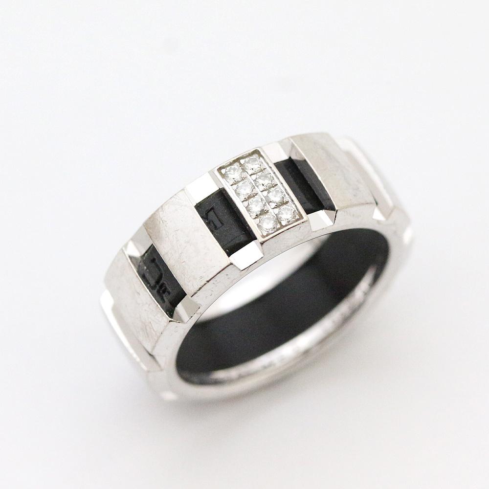 【中古】Chaumet ショーメ クラスワン リング・指輪 レディース 9.5号 シルバー K18ホワイトゴールド ダイヤモンド ラバー ジュエリー