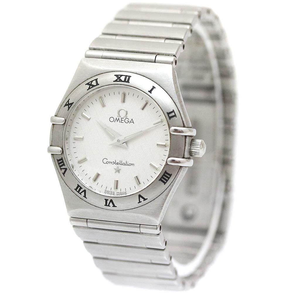 【中古】OMEGA オメガ コンステレーション ミニ 腕時計 レディース クオーツ ホワイト文字盤 シルバー 1562.30