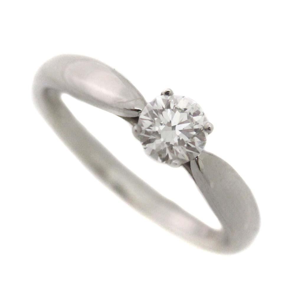 【中古】TIFFANY&Co. ティファニー ハーモニー 1Pダイヤ リング・指輪 レディース 10号 Pt950プラチナ ダイヤモンド 0.39ct ジュエリー【新品仕上げ済み】