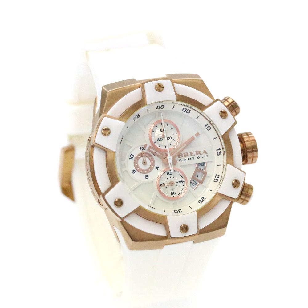 【中古】 BRERA【ブレラ】 フィデリカ クロノグラフ 腕時計 メンズ クオーツ ホワイト ゴールド