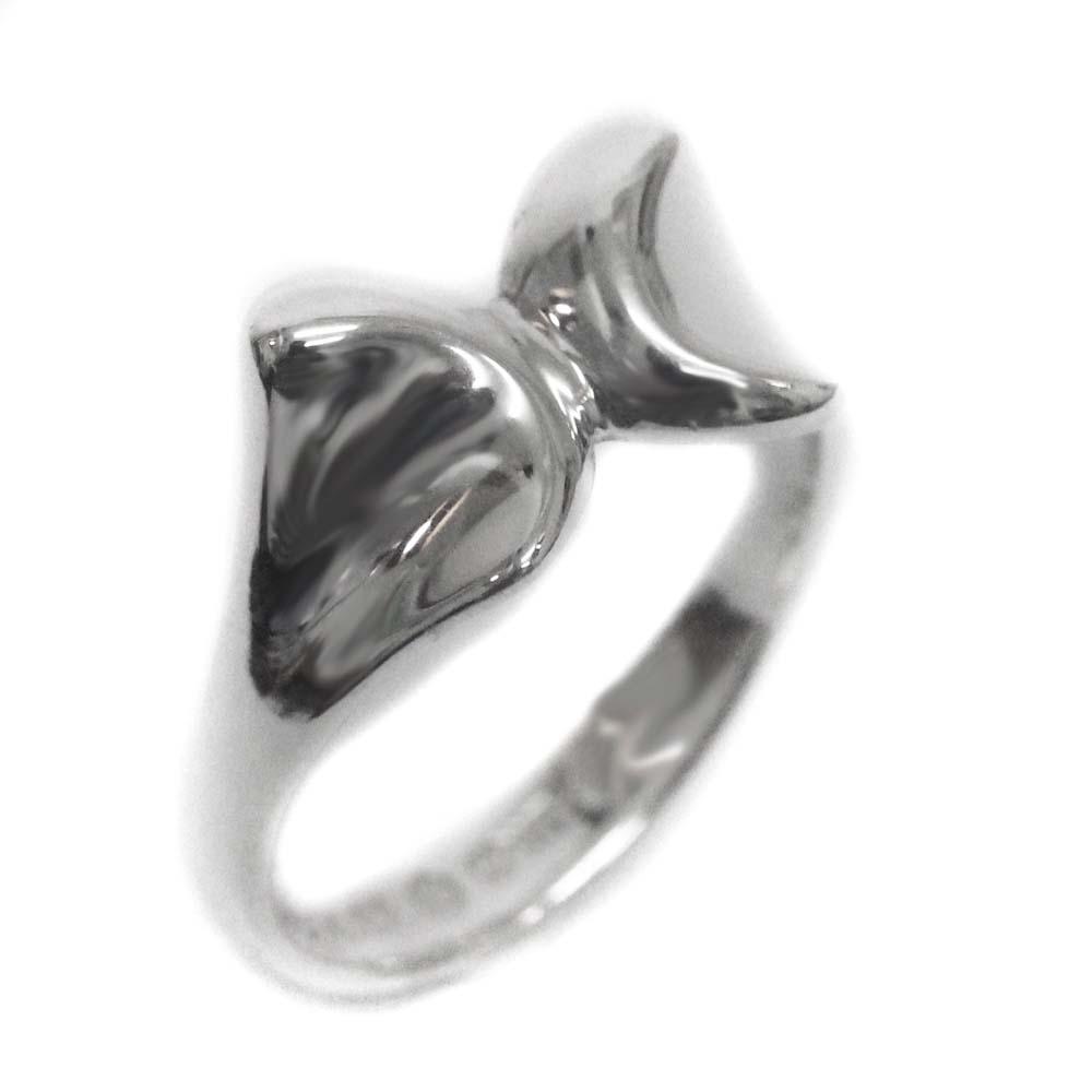 【中古】TIFFANY&Co. ティファニー リボン リング・指輪 レディース 8.5号 SV シルバー925【新品仕上げ済み】