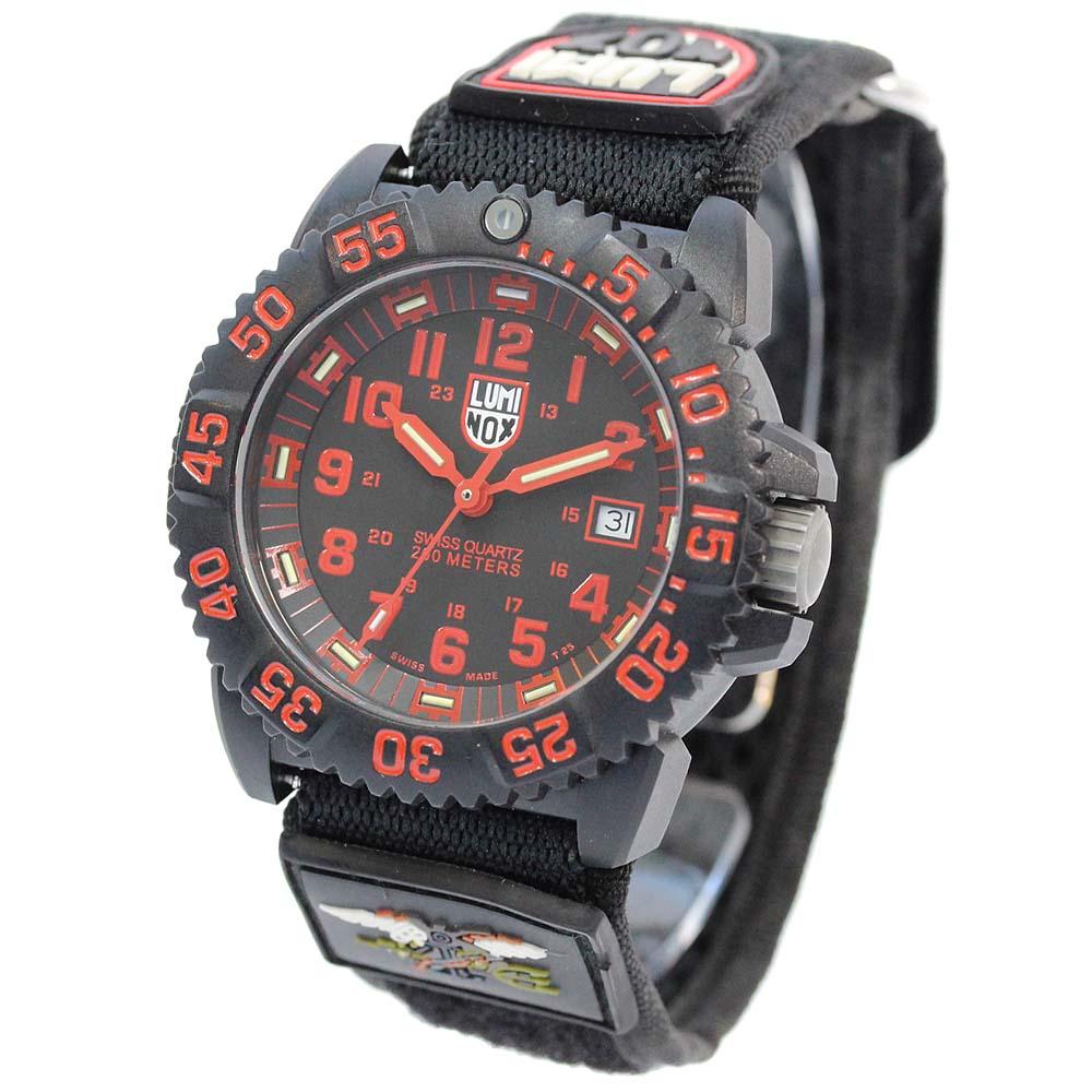 【中古】LUMINOX ルミノックス ネイビー シールズ 3050カラーマークシリーズ 腕時計 メンズ クオーツ ブラック文字盤 ブラック 3050/3950