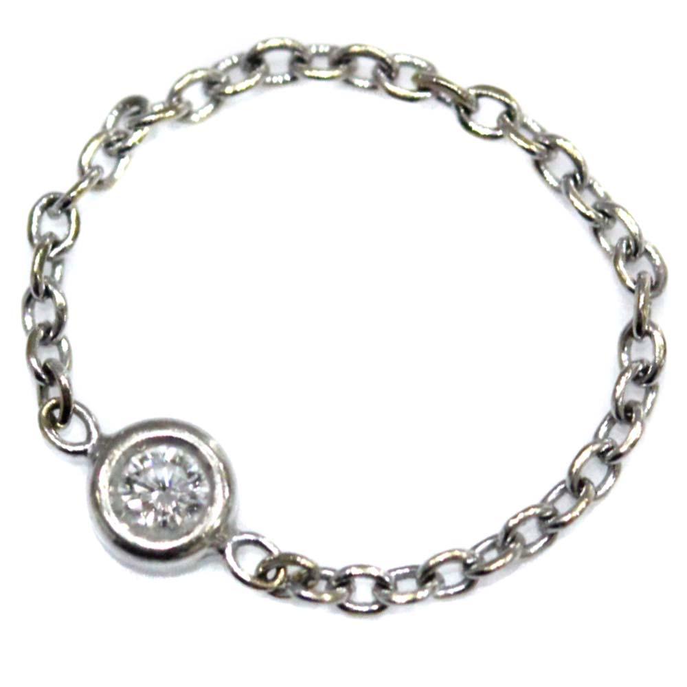 【中古】Christian Dior クリスチャンディオール ミミウィ ダイヤ ピンキー リング・指輪 レディース 2号 ホワイトゴールド K18ホワイトゴールド【新品仕上げ済み】