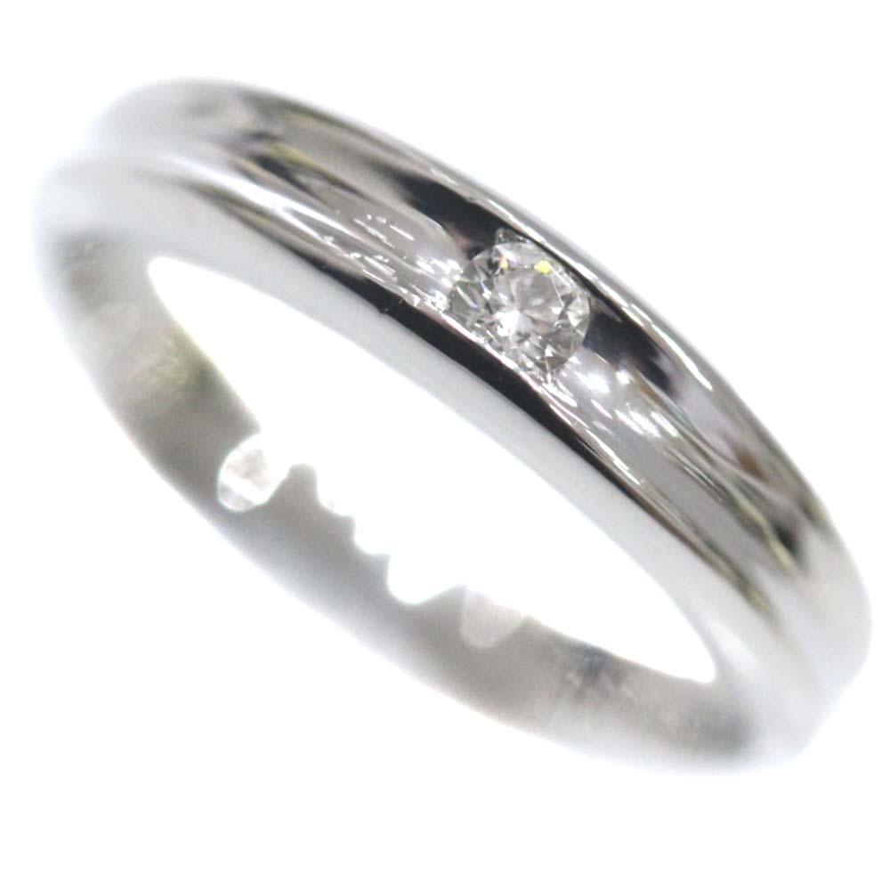 【中古】4℃ ヨンドシー 1Pダイヤ リング・指輪 レディース 10号 プラチナ Pt1000プラチナ ダイヤモンド【新品仕上げ済み】