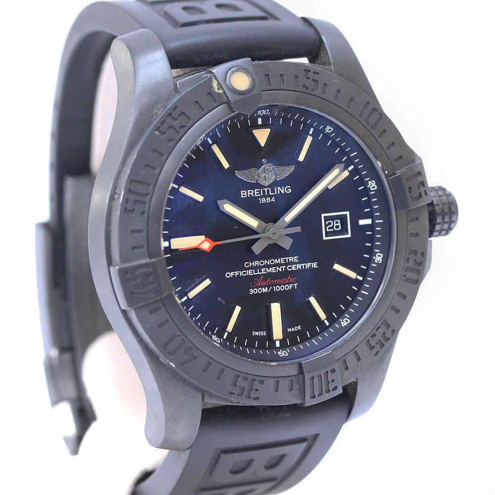【中古】BREITLING ブライトリング アベンジャー ブラックバード 腕時計 メンズ 自動巻き ブラック V17310
