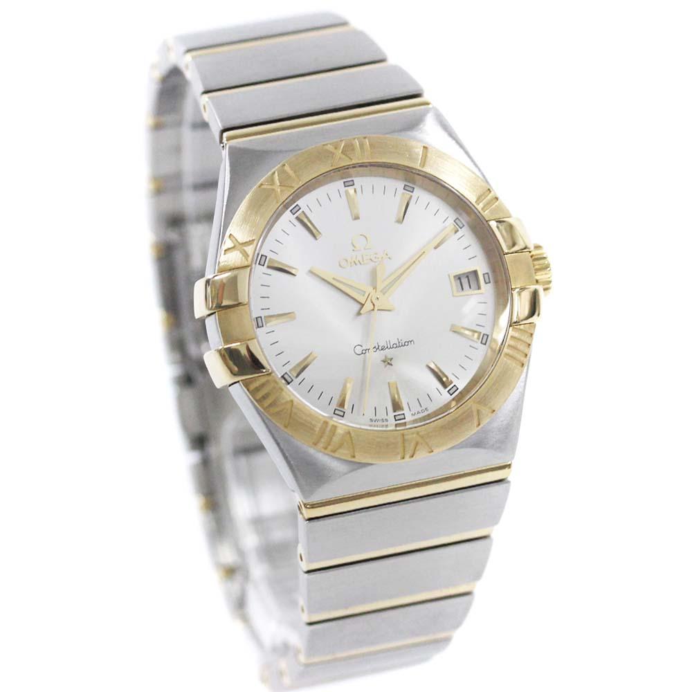【中古】OMEGA オメガ コンステレーション 腕時計 メンズ クオーツ シルバー文字盤 シルバー 123.20【新品仕上げ済み】