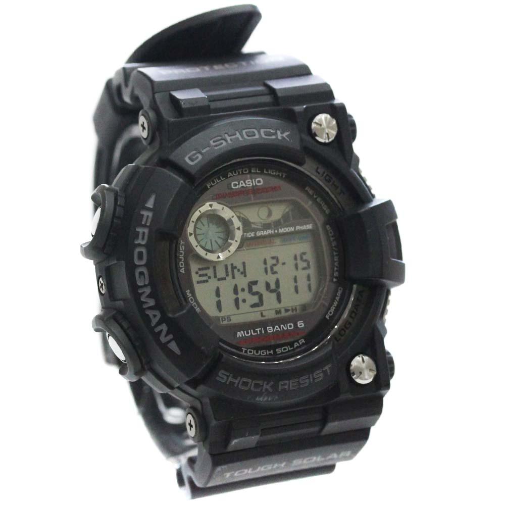 【中古】CASIO カシオ G-SHOCK Gショック フロッグマン 腕時計 ユニセックス ソーラー ブラック文字盤 ブラック GWF-1000-1JF