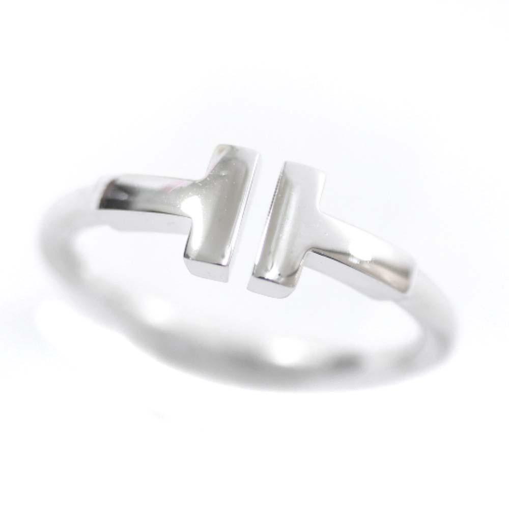 【中古】TIFFANY&Co. ティファニー Tワイヤー リング・指輪 レディース 10号 WG K18ホワイトゴールド ジュエリー【新品仕上げ済み】