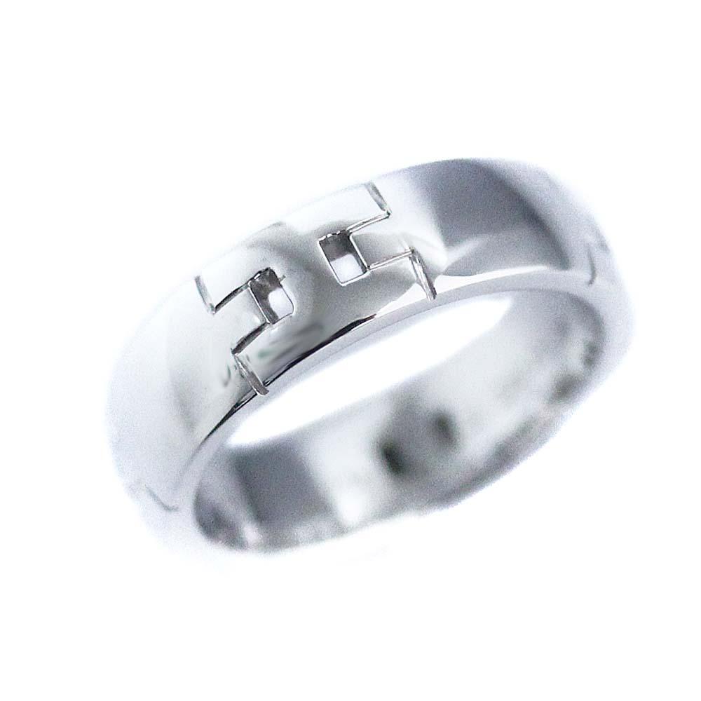 【中古】HERMES エルメス ヘラクレス リング・指輪 レディース 8.5号 WG K18ホワイトゴールド ジュエリー【新品仕上げ済み】