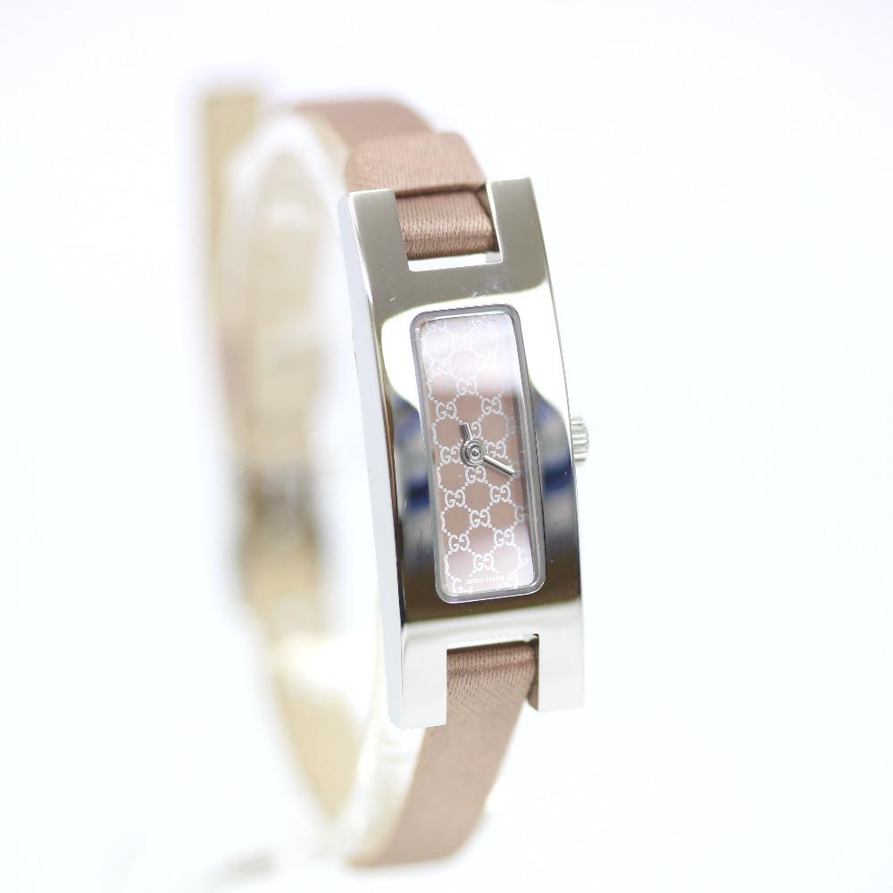 【中古】GUCCI グッチ GG 腕時計 レディース クオーツ ベージュ文字盤 シルバー ピンクベージュ 3900L