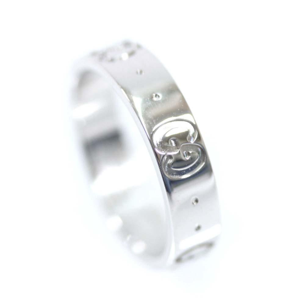【中古】GUCCI グッチ アイコン リング・指輪 ユニセックス 6号 WG K18ホワイトゴールド ジュエリー【新品仕上げ済み】