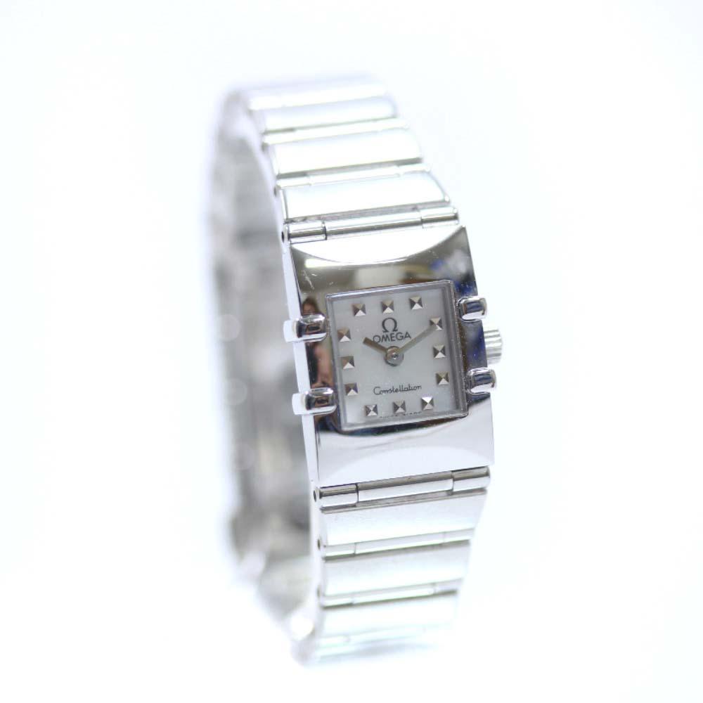 【中古】OMEGA オメガ コンステレーションカレ 腕時計 レディース クオーツ ホワイト文字盤 シルバー 1531.71