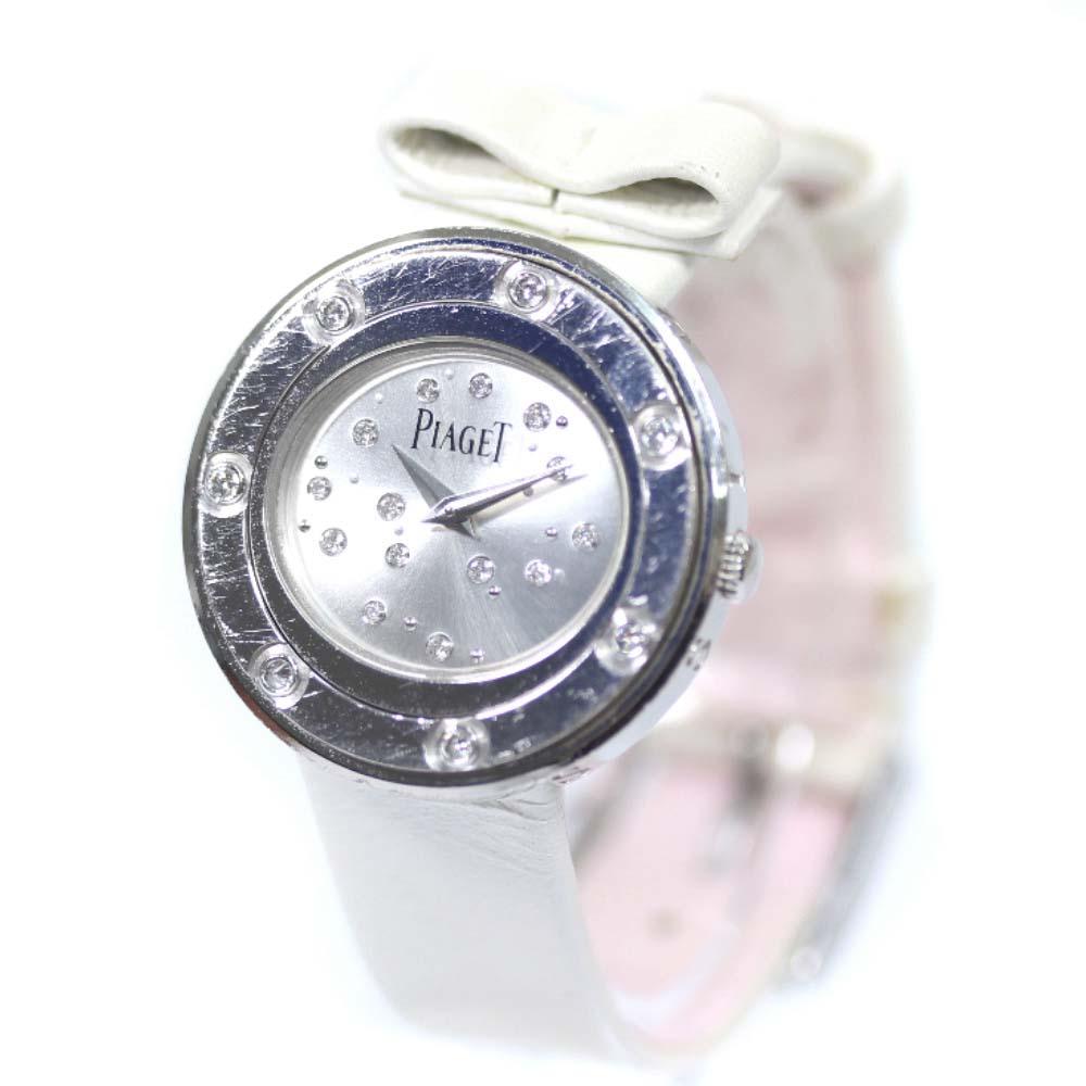 【中古】PIAGET ピアジェ ポセション ダイヤベゼル 腕時計 レディース クオーツ シルバー文字盤 シルバー P10647