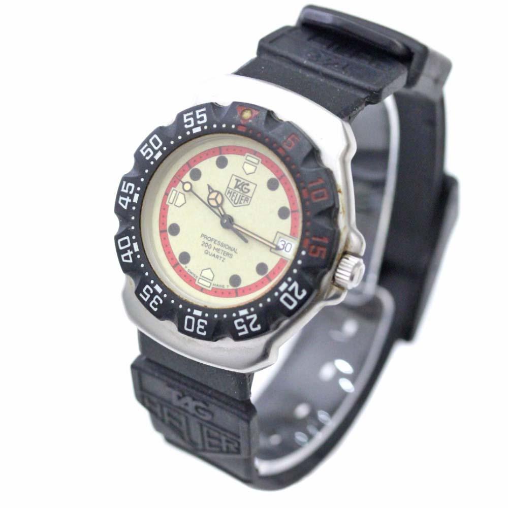 【中古】TAG HEUER タグホイヤー プロフェッショナル200M 腕時計 レディース クオーツ 夜光文字盤 ブラック