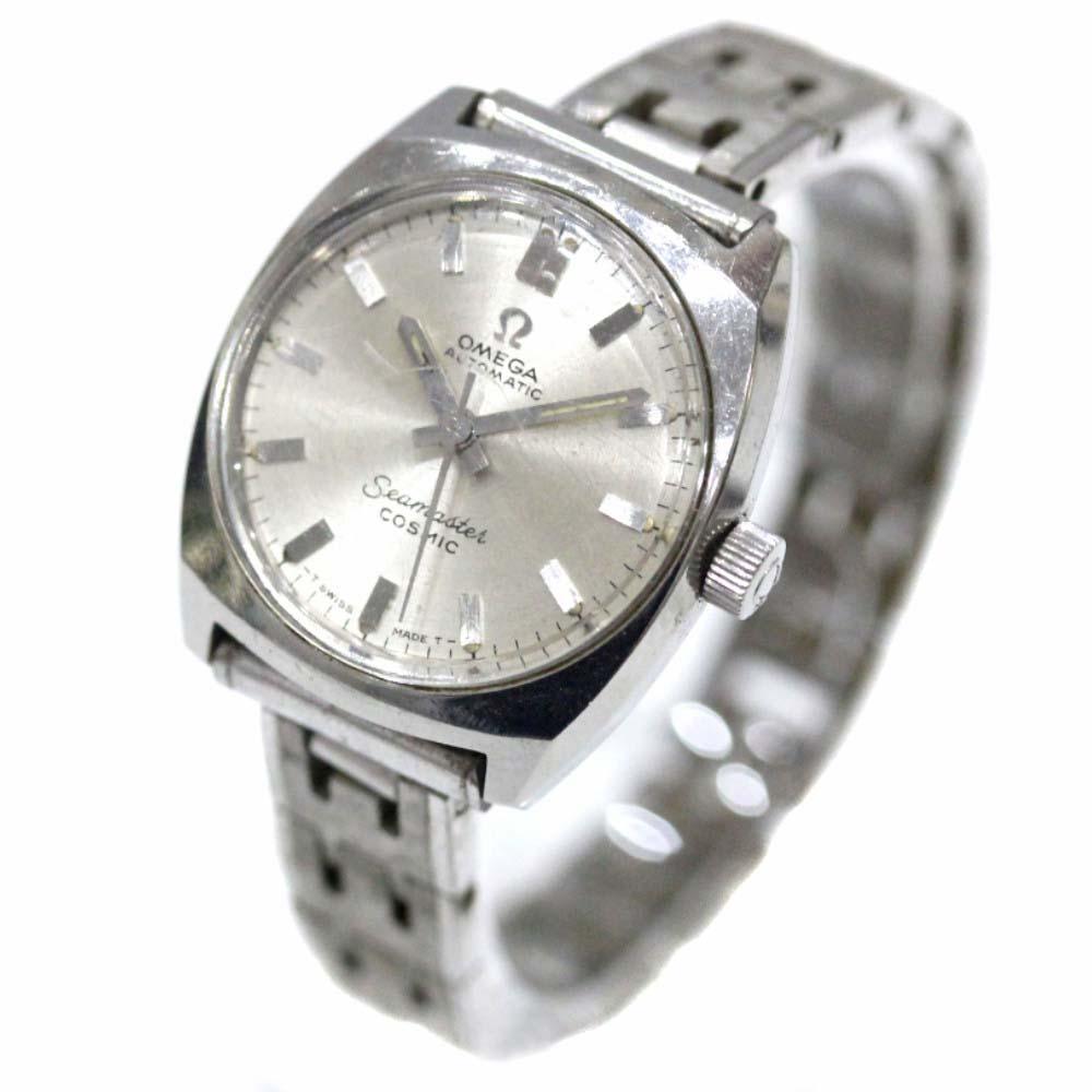 【中古】OMEGA オメガ シーマスター コスミック 腕時計 レディース クオーツ シルバー文字盤 シルバー