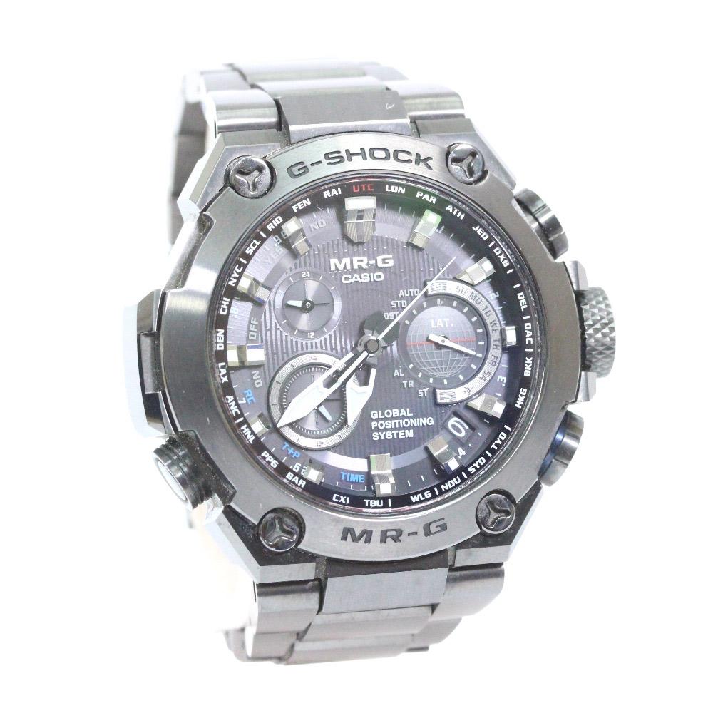 【中古】CASIO カシオ GPS ハイブリッド 電波ソーラー Gショック MR-G 腕時計 メンズ ブラック文字盤 ブラック MRG-G100B