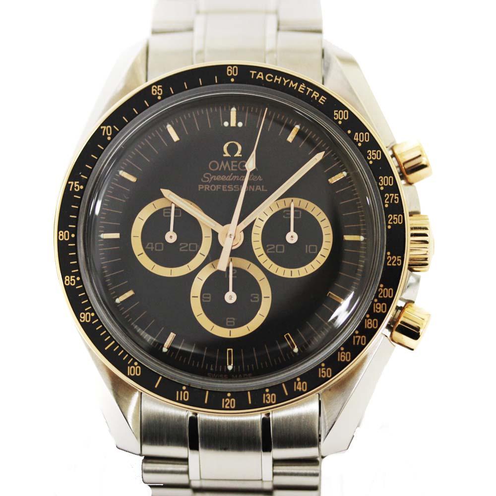 【中古】OMEGA オメガ スピードマスター プロフェッショナル アポロ15号 35周年記念 腕時計 メンズ 手巻き ブラック文字盤 シルバー 3366.51