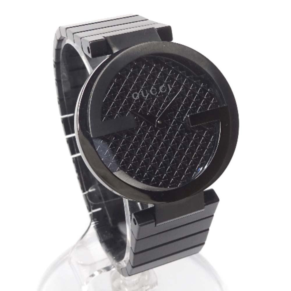 【中古】【美品】GUCCI グッチ インターロッキング リミテッド 腕時計 メンズ クオーツ ブラック 133.3