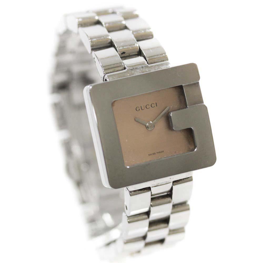 【中古】GUCCI グッチ Gウォッチ 腕時計 レディース クオーツ ピンク系文字盤 シルバー 3600L
