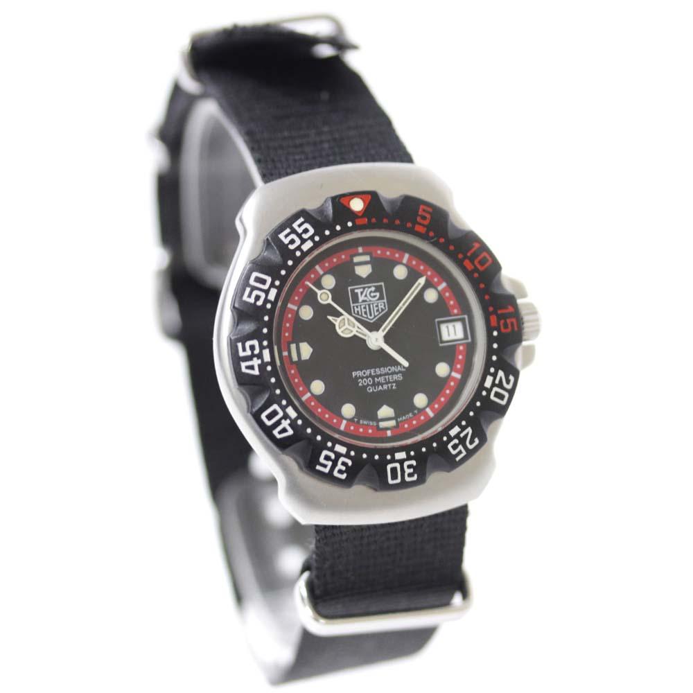 【中古】TAG HEUER タグホイヤー フォーミュラ1 プロフェッショナル200 腕時計 レディース クオーツ ブラック文字盤 シルバー ブラック WA1214