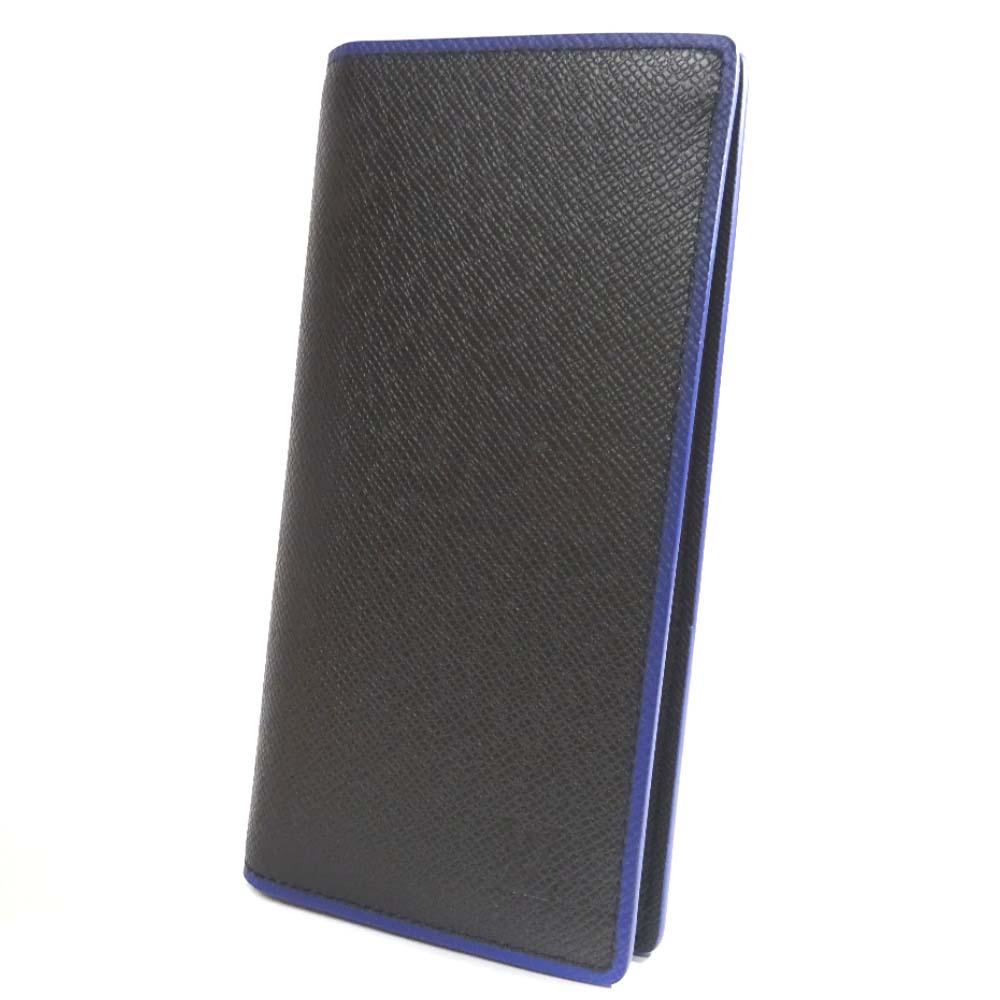 【中古】【美品】LOUIS VUITTON ルイ ヴィトン タイガ ポルトフォイユ ブラザ 長財布 メンズ ブラック レザー M30558