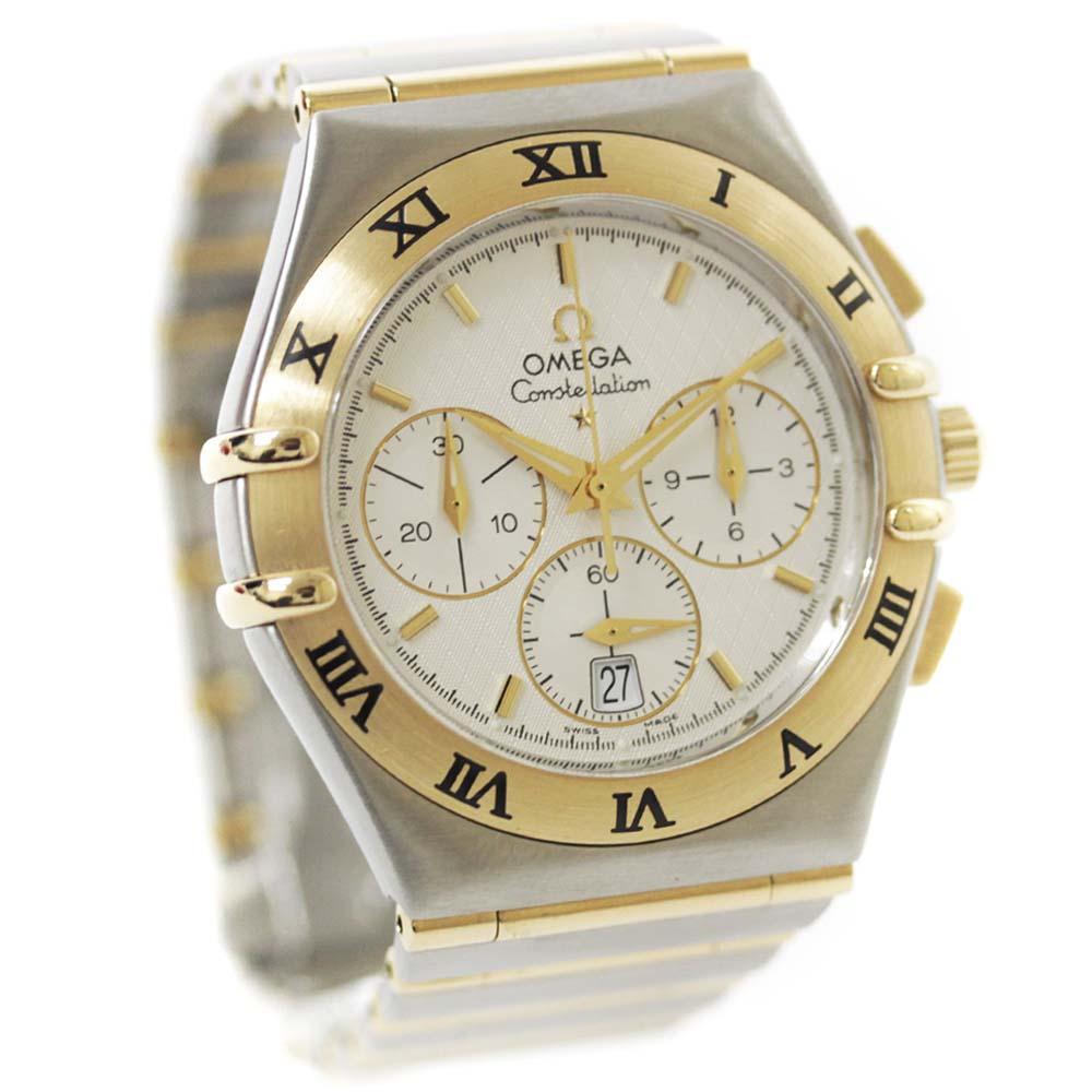 【中古】OMEGA オメガ コンステレーション クロノグラフ 腕時計 メンズ 自動巻き ホワイト文字盤 コンビ Ref. 1242.30