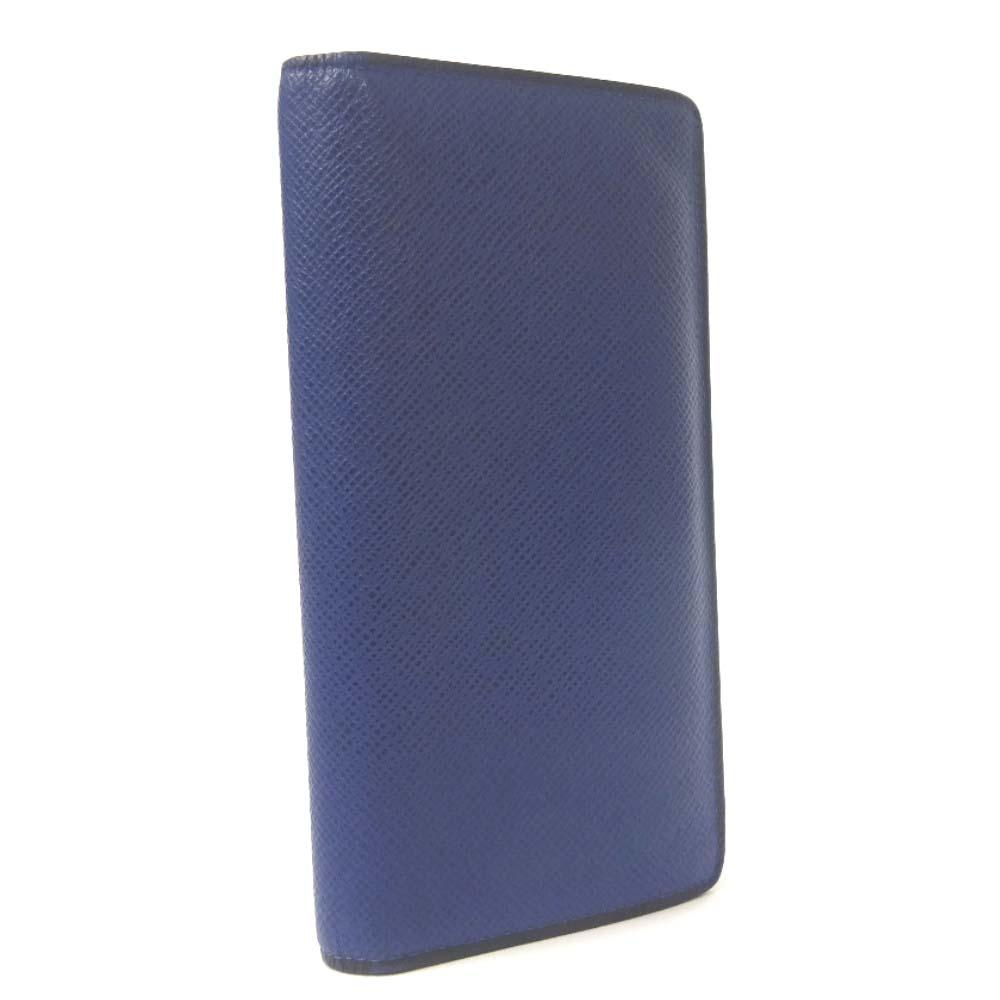 【中古】LOUIS VUITTON ルイ ヴィトン ポルトフォイユ ブラザ タイガ 長財布 メンズ コバルト ブルー タイガ レザー M30559